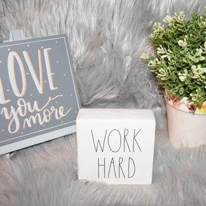 Rae Dunn Work Hard/ Be Brave office block